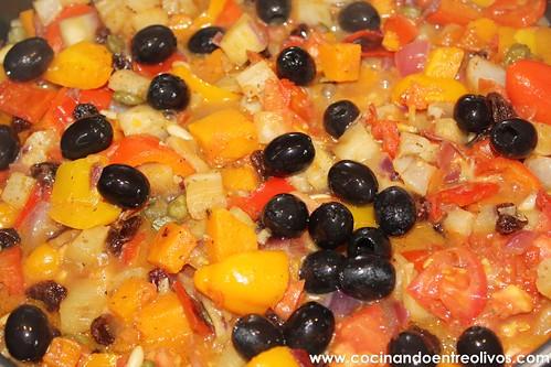 Caponata siciliana www.cocinandoentreolivos (19)