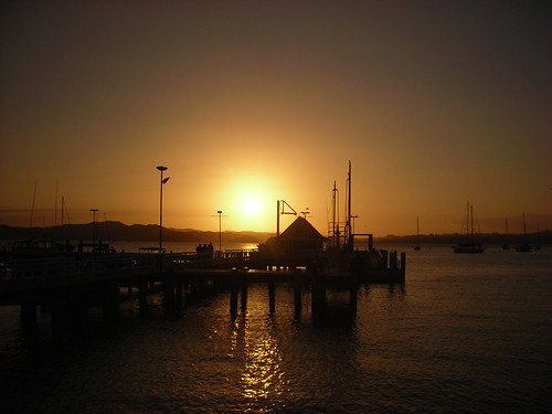 Sunset on The Wharf in Russell
