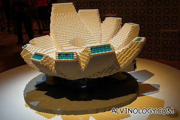 A LEGO brick version of the ArtScience Museum - a commissioned piece specially for this exhibition