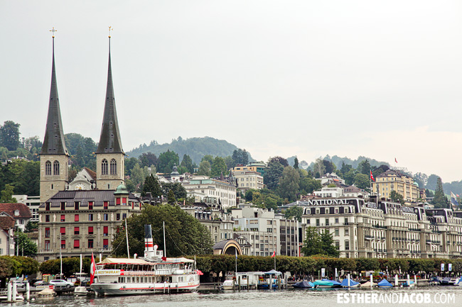 CATHEDRAL OF ST. LEODEGAR / LEGER (HOFCHILE) in Lucerne / Luzern Switzerland | Travel Photography