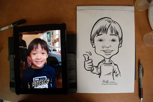 caricature sketching for a birthday party 07072012 - 9