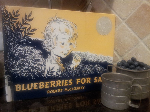 Blueberries for Sal with Tin Measuring Cups