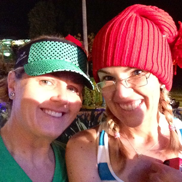 Ready to race: Peter Pan and @according2kelly as Mr.  Smee. @runDisney Tinker Bell Half! #tinkhalf #teamsparkle #tinkerbellhalf #rundisney
