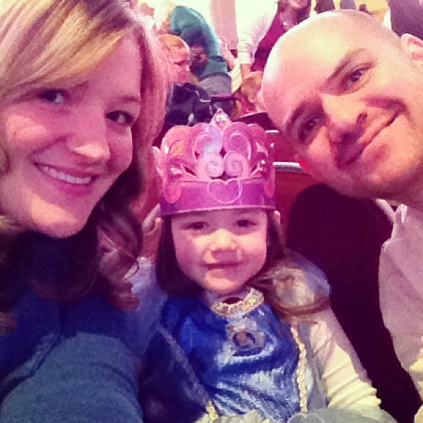 Disney princesses on ice with our princess! @THEQARENA