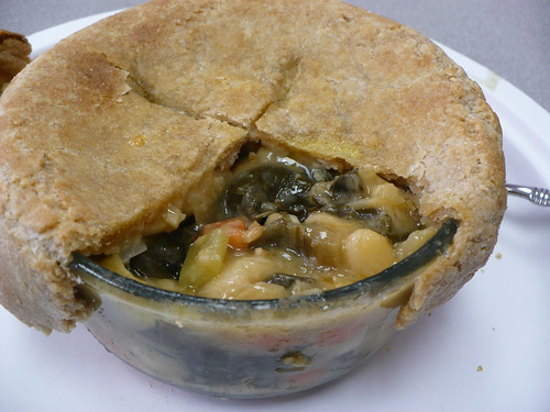 Bacon, White Bean, and Swiss Chard Pot Pie!