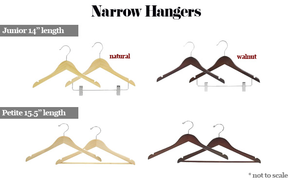 petite and junior hangers