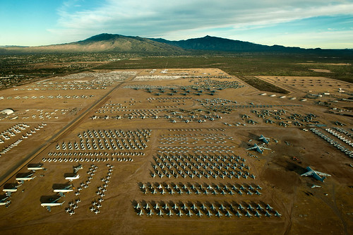 "A northern aerial view of the ""Boneyard"" of the 309th Aerospace Maintenance and Regeneration Group at Davis-Monthan Air Force Base, Ariz. (U.S. Air Force photo/Tech. Sgt. Bennie J. Davis III)"