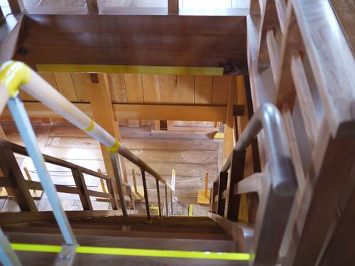 The very, very steep stairs