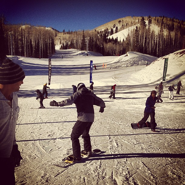 snowboarding at Canyons Resort