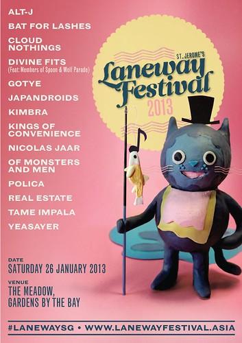 Laneway 2013 Singapore Poster