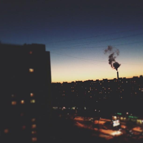 Вчера был красивый закат #горизонтзавален