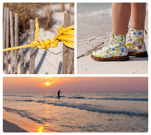 ocean flowers sun gulfofmexico water sunrise fence boot 50mm fisherman sand shoes dunes whitesand drmartens destinflorida drmartensboots canon50mmf12 5dmarkii canon5dmarkii yellowknot floralbootstyle floralboot