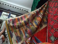 Tapete marroquino numa loja em Marrakech