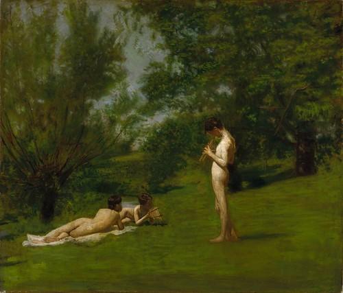 Thomas Eakins - Arcadia [c.1883] by Gandalf's Gallery