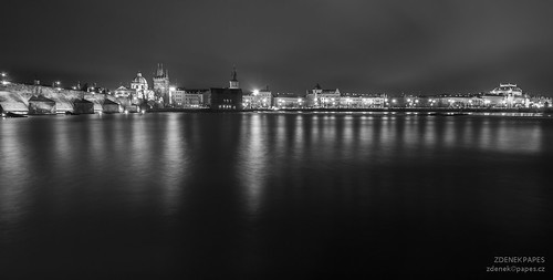 Prague night by Zdenek Papes