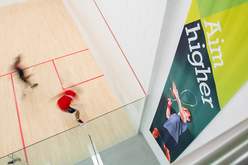 Squash courts at the Centre for Sport