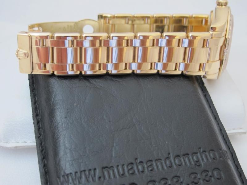 Bán đồng hồ rolex day date pearmaster 18948 – Mặt Vi Tính xoàn – Size 39mm