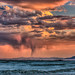 Rain Squall over Black Rock City  at Sunset by Michael Holden