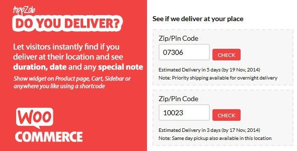 WooCommerce Do you Deliver? v1.2