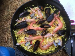 Paella on the campground.