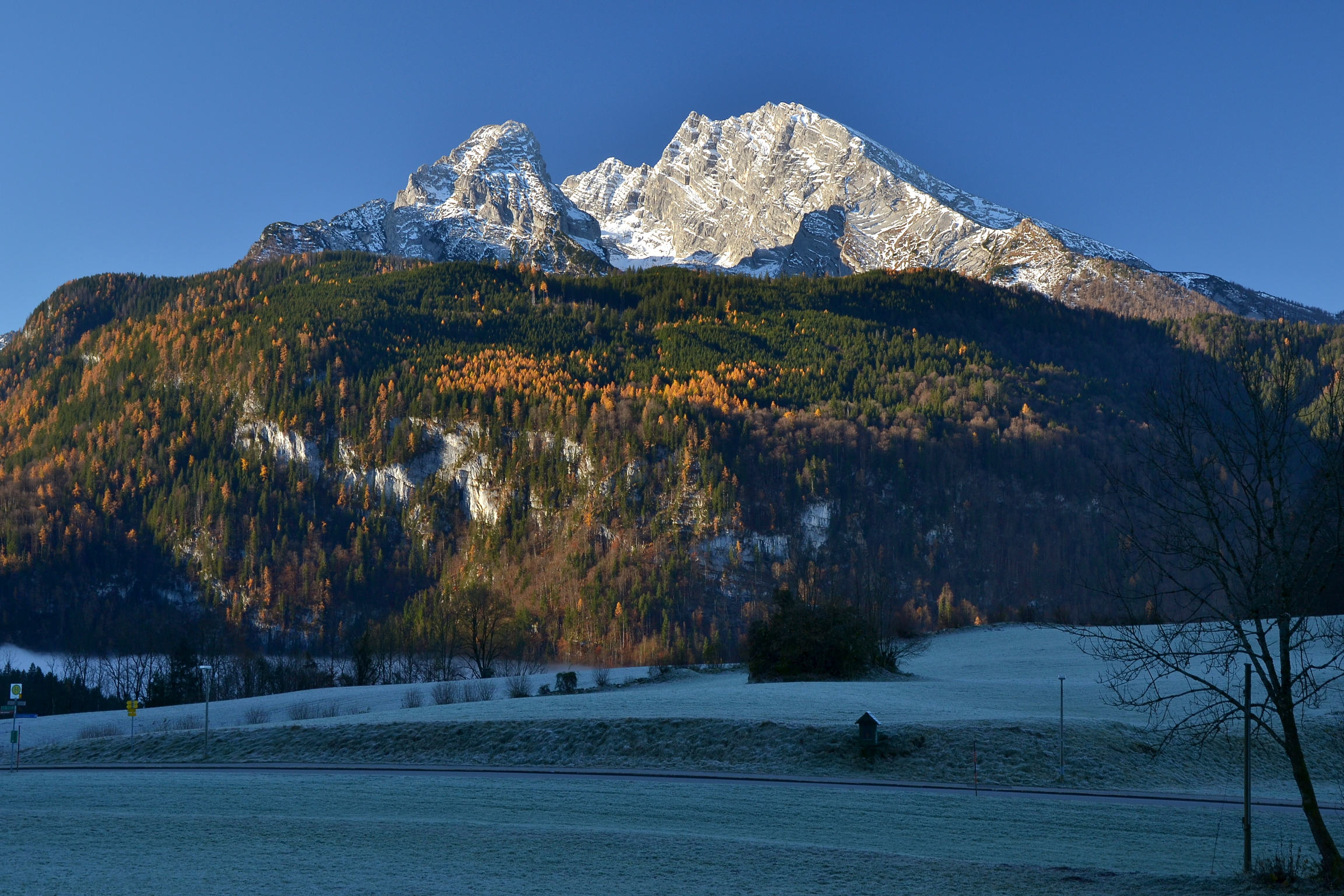 Elevation Of Ramsau Bei Berchtesgaden Germany