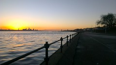 Liverpool from Vale Park Promenade Gates: Copyright 11th December, 2012 Kevin & Jane Moor