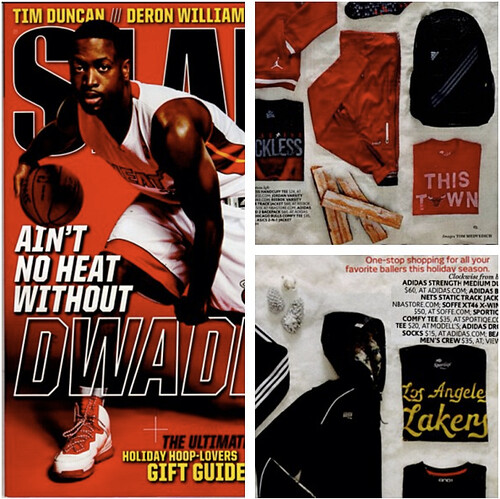 Sportiqe In SLAM Magazine Holiday Gift Guide
