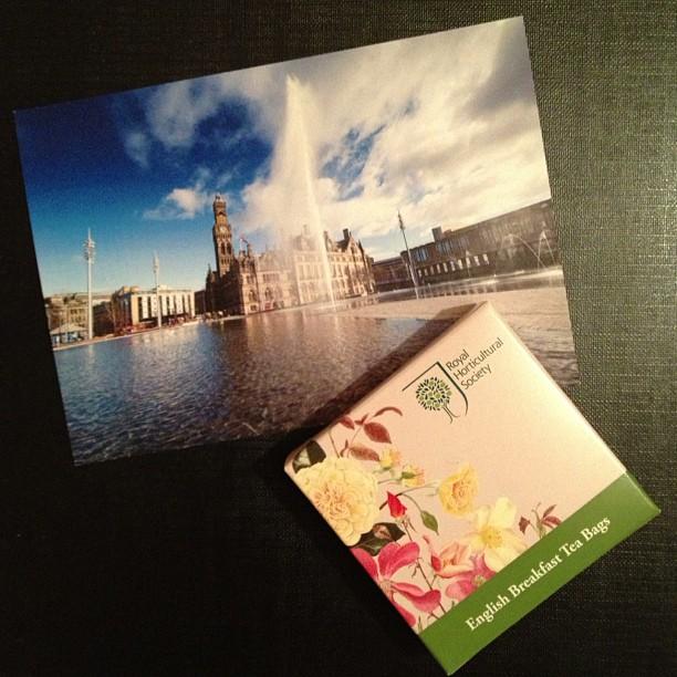 #postcard #bradford #cityhall #teabags #snailmail