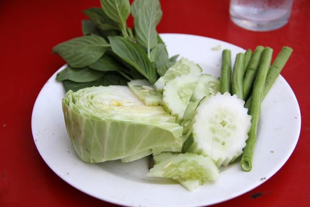 Thai vegetable plate