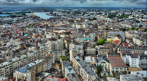Nantes from above (by: Arnaud Abelard, creative commons)