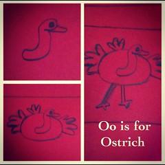 Oo is for Ostrich #homeschool Art/Animal study #hsmommas