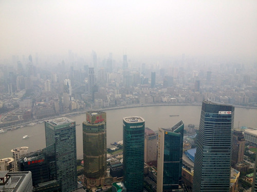 Shanghai, Pudong - view from Jin Mao Tower