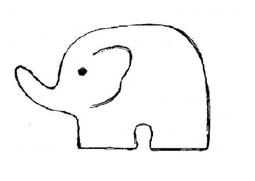 elephant smash cake template
