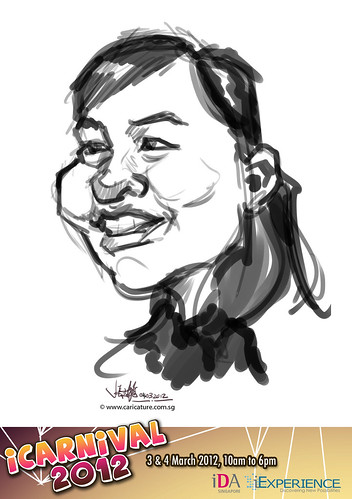 digital live caricature for iCarnival 2012  (IDA) - Day 2 - 18