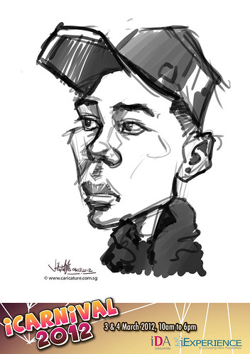digital live caricature for iCarnival 2012  (IDA) - Day 2 - 61