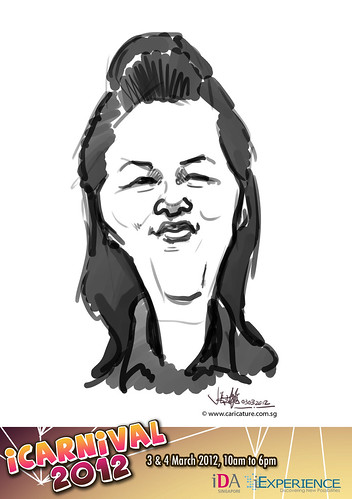 digital live caricature for iCarnival 2012  (IDA) - Day 1 - 80