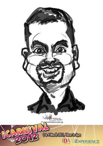 digital live caricature for iCarnival 2012  (IDA) - Day 1 - 94