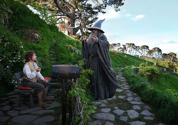 Martin Freeman and Ian McKellen take their time in THE HOBBIT: AN UNEXPECTED JOURNEY.
