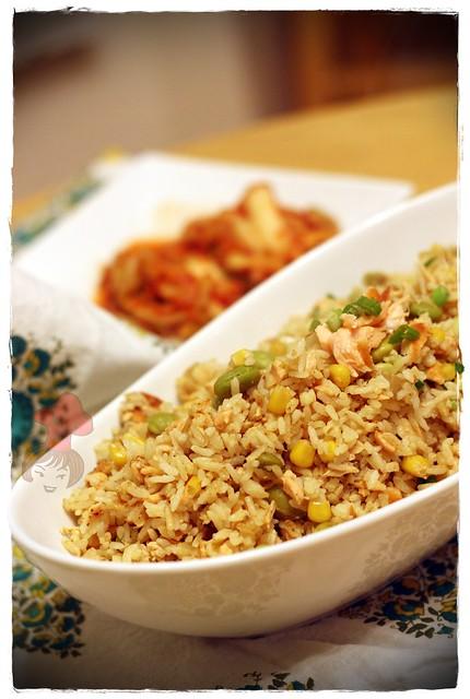 鮭魚炒飯 Salmon Fried Rice 9