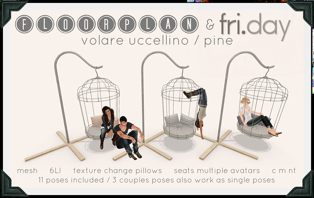 Atelier Kreslo December: floorplan & fri.day volare uccellino / pine