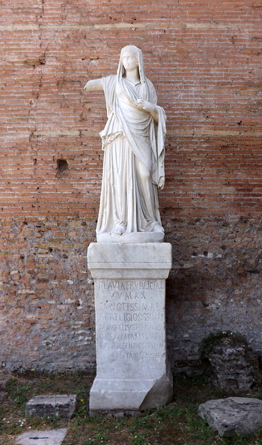 Statue of a Chief Vestal from the House of the Vestal Virgins in the Forum Romanum, June 2012
