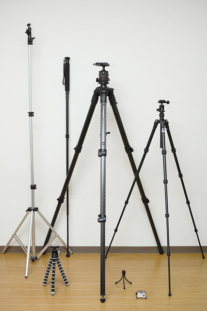 20121222_04_My tripod & monopod & light stand