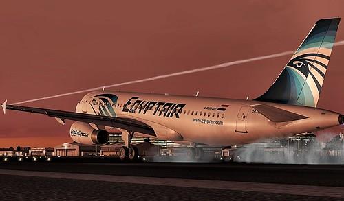 A320 Egyptair landing