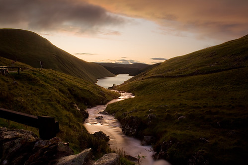 Talla Burn, at sunset by Conyip