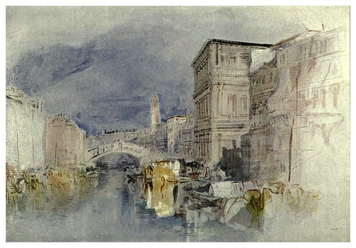 022-Venecia casa Grimani y el Rialto 1839-The water-colours  of J. M. W Turner-1909