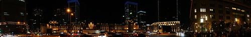 Panoramic night Tokyo Station
