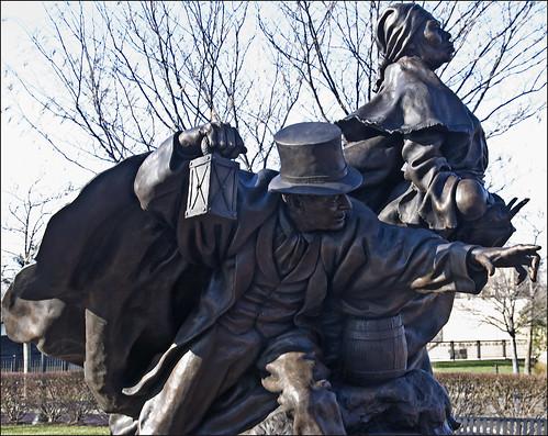 """""""Unwavering Courage in the Pursuit of Freedom"""" -- Tubman-Garrett Park Wilmington (DE) December 2012"""