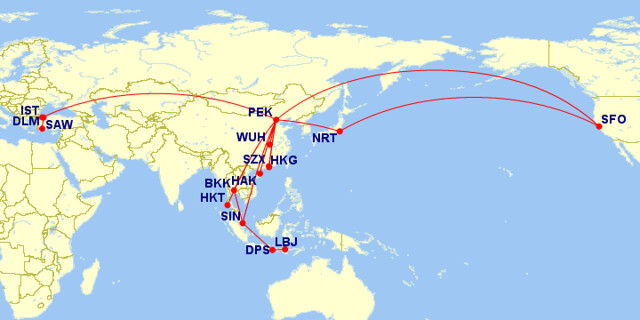 My 2012 flight map