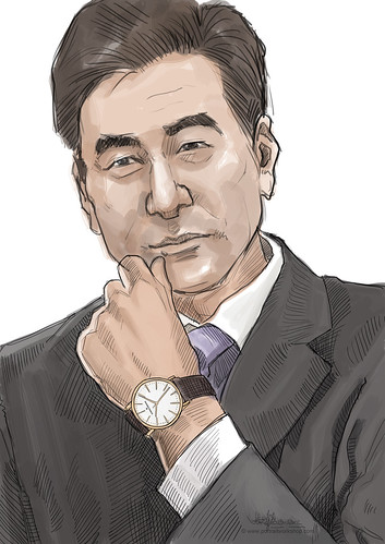 digital portrait live sketching for Vacheron Constantin - 1