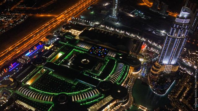 Вид с небоскреба Бурж Калифа